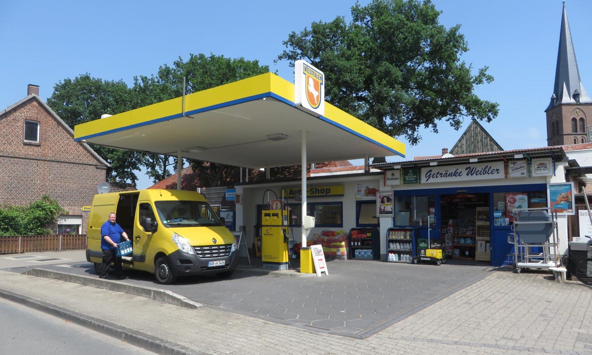 Getränkehandel und Tankstelle
